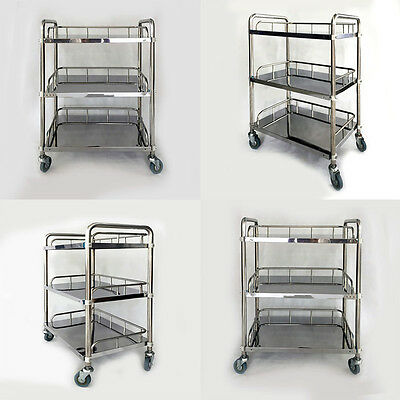 Yes Medical Spa Shelf 3 Layer Trolley Dental Surgical Lab Tray Cart Y2R3 Durable