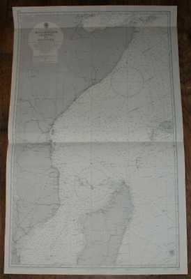 Nautical Chart No. 597, Africa - East Coast, Mocambique Channel 1:3,500,000 1971