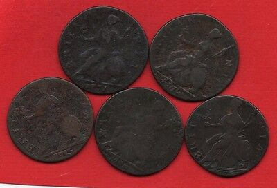 1771 1772 1773 1774 1775 King George Iii Copper Half Penny Coins. Halfpenny