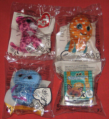 McDonalds Happy Meal Glubschis OVP 1. Serie: Glamour, Ollie, Eule, Koffer