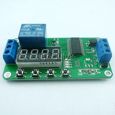 DC 5V Multifunction Self-lock Relay PLC Cycle Timer Module Delay Time Switch MO