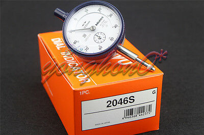 Mitutoyo 2046S Dial Indicator 0-10mm X 0.01mm Grad Brand New