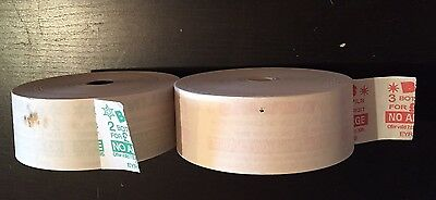 Two Wayfarer 3 Bus Ticket Rolls Large Diameter Green And Red Berlins Adverts