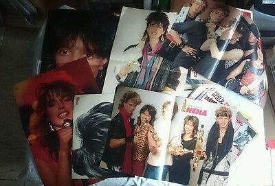 Nena Lot 9 Poster + Clippings Magazine C1 Very Rare 80's Posters
