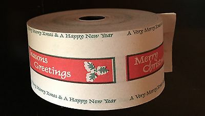 Wayfarer Bus Ticket Roll Small Diameter Merry Christmas Seasons Greetings