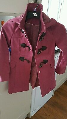 New girls george pink coat 8-9 years