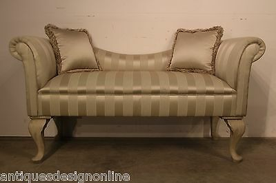 French Rococo love seat CHAISE LOUNGE 2 seater upholstered antique sofa settee