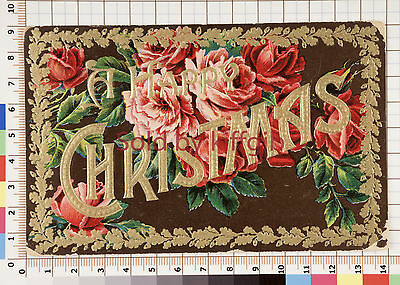 Vintage Christmas postcard with embossed design