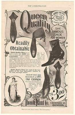 1899 Queen Quality Shoes Trademark Famous Shoe Women Ad