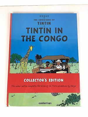 Herge Adventures of TINTIN IN THE CONGO Collector's Edition NEW SEALED hardback