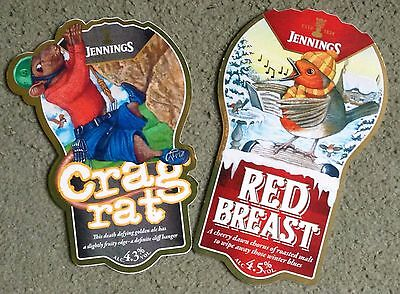 Two Jennings Brewery Beer Pump Clips