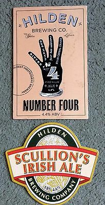 Two Hilden Brewing Company Beer Pump Clips