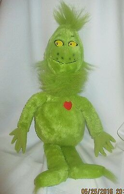 """Grinch Who Stole Christmas Plush With Heart, Dr. Seuss  Kohls Cares, 22"""""""
