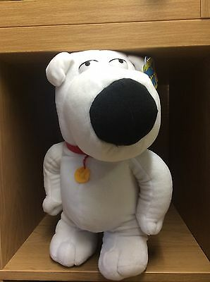 """Bnwt Official 2016 Family Guy Large Soft Plush Toy Brian New Gift 15"""" / 38Cm"""