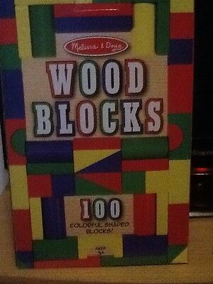Melissa And Doug Wooden Blocks Used Once
