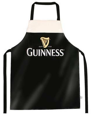 Guinness Designed Livery PVC Apron With Harp Design,Black Colour