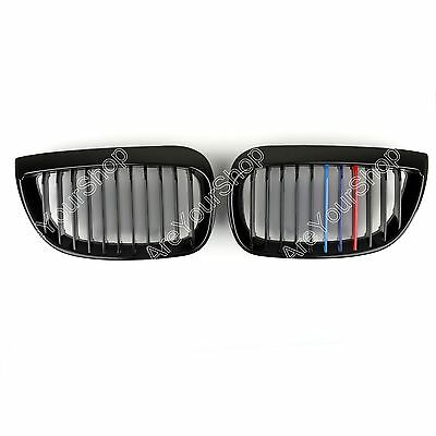 Front Glossy Black M-Color Kidney Grille Parrilla Fit BMW E87 1 Series 2003-2007