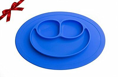 Sterify Baby Silicone Feeding Placemat Plate (Blue)