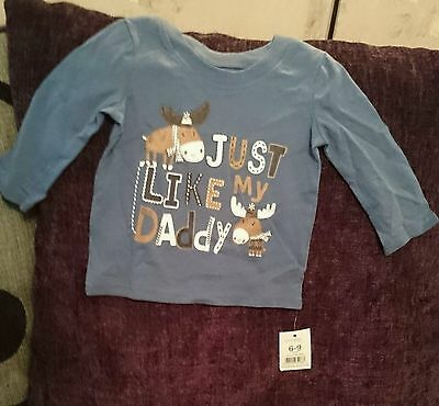 6-9 months x-mas long sleeved top (just like my daddy) nwt