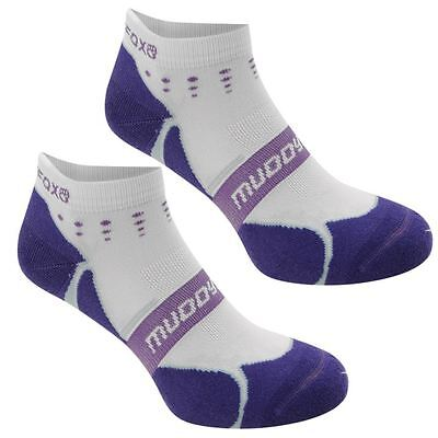 Muddyfox Junior Cycle 2 Pack Socks White/Purple UK 1-6