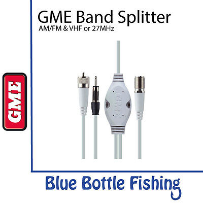 NEW GME AM/FM & VHF or 27MHz Band Splitter- SPL002 from Blue Bottle Fishing
