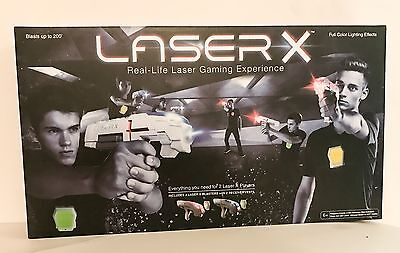 Brand New LASER X Two Player Laser Gaming Set Ship Immediately - Sale Today Only