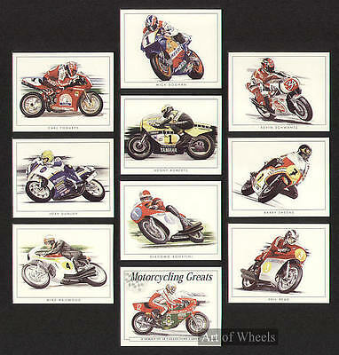 Motorcycle Racers Mike Hailwood Joey Dunlop Trade Cards