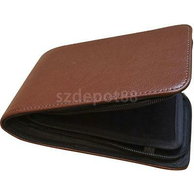Soft Pen Pouch/Case Coffee Genuine Leather for 12 Pens Holder Handmade Pouch