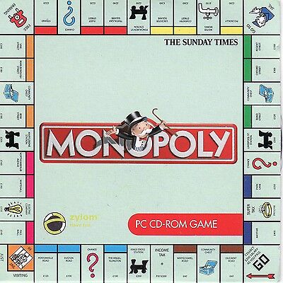 Monopoly Deluxe PC CD ROM version of Board Game - Free Shipping
