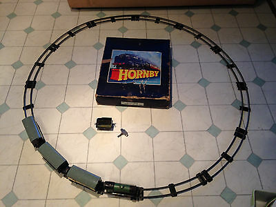 Hornby Train Set Gauge 0 No 51 (Loco M1) Track Train Coal Wagon 3 Passenger Cars