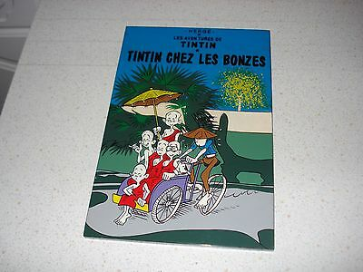 TINTIN lacquered wooden wall plaque picture 30cm by 20cm Bonzes