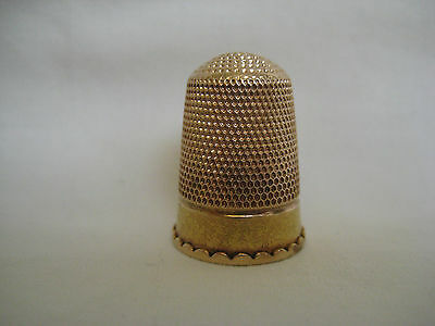 Antique 9CT Gold Sewing Thimble