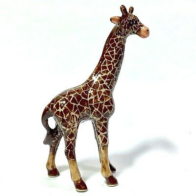 Miniature Giraffe Ceramic Animal Figurine Hand Painted Decor Collectibles Gift