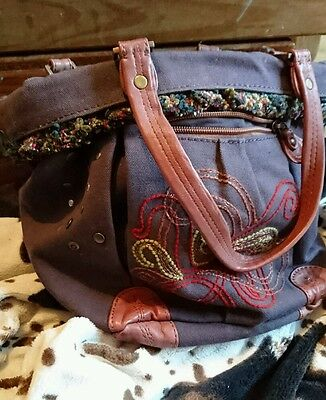 genuine leather and canvas tote bag lakeland leather