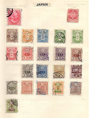 Stamps from Japan, circa 1900 to 1913
