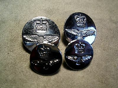 Set of 4 British Royal Army Air Force RAF Buttons #532