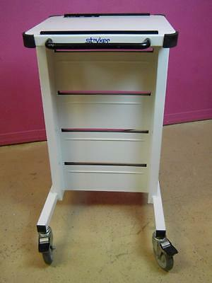 Stryker Surgical Endoscopy Power Station Equipment Cart Stand White 2296-401