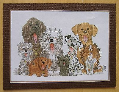 1/12th SCALE DOLLS HOUSE MINIATURE PICTURE - DOGS - CROSS STITCH EFFECT