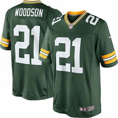 Nike NFL Green Bay Packers Charles Woodson American Football Game Jersey Green S