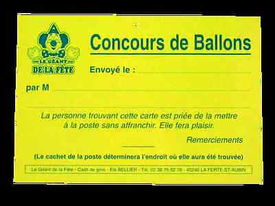 Cartes lâcher de ballons (lot de 100)