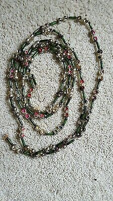 Vintage Christmas indent bead garland