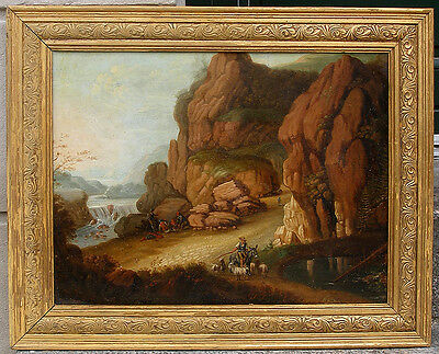 Early 19th century mountain landscape. 1850s. German/ Dutch school.