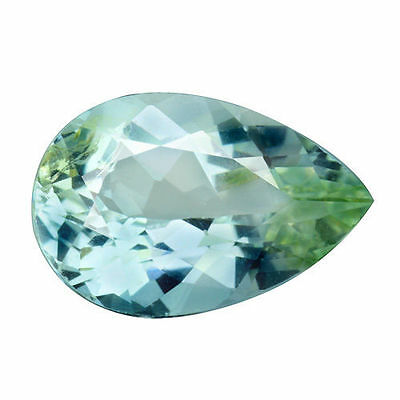 3.335Cts Good Looking Pear Cut White Natural Aquamarine Loose Gemstones
