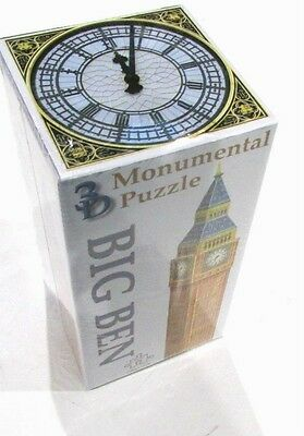 New, 294 Piece, 3D 48 Cms Tall Monumental Puzzle Of London's Big Ben Clock