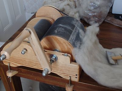 Classic Drum Carder for alpaca/ wool/ fibers for spinning, felting, other