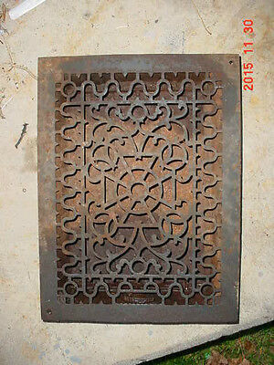 Vintage ORG Cast Iron Adjustable Heating  Grate  Register Handsome Grate Pattern