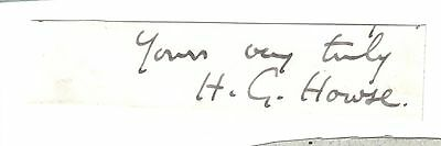 Sir Henry Greenway Howse -President Royal College of Surgeons - Guy's -signature