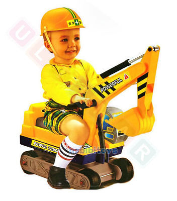Kids ride on excavator digger Jcb toy with helmet,new Christmas gift