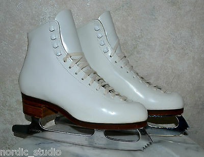 MINT DON JACKSON DJ1100 COMPETITION ICE FIGURE SKATES WOMENS size 6.5