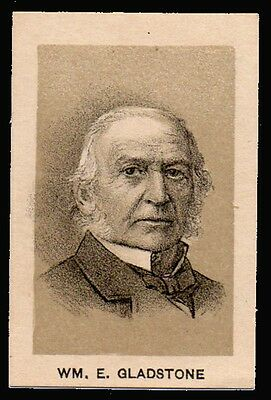 1887 Three Crow Extracts. Card  WM. E. Gladstone ( Prime Minister of UK)